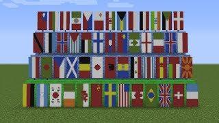 Como fazer bandeiras de paises no Minecraft