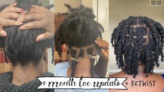 9 Month Loc Update Retwist & Style | Naomi Onlae #retwist #shortlocs #4chair