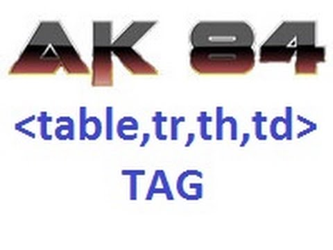 Html 5 Tutorial In Hindi 116 Table , Tr , Th , Td Tag
