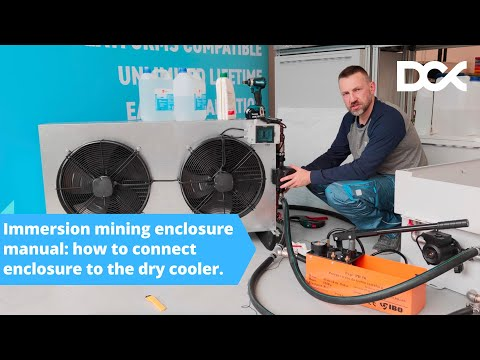 DCX Immersion Mining Enclosure Manual - Connecting The Dry Cooler.