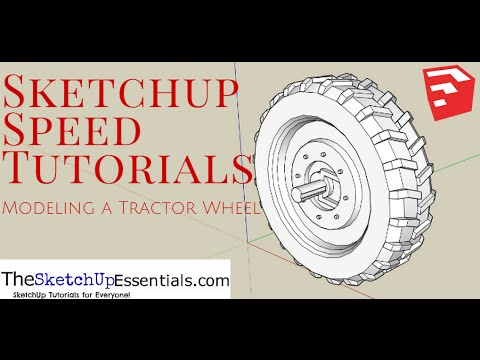 Sketchup Tractor Tire Wheel Tutorial 2 Doovi