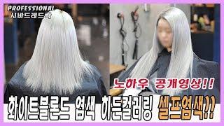[화이트블론드] 염색 노하우공개~!!(땋기붙임머리 염색…