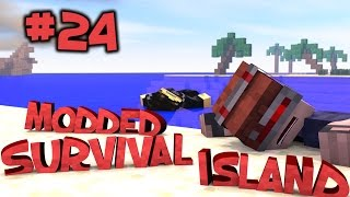 Survival Island Modded - Minecraft: Barbed Wire Prison! Part 24