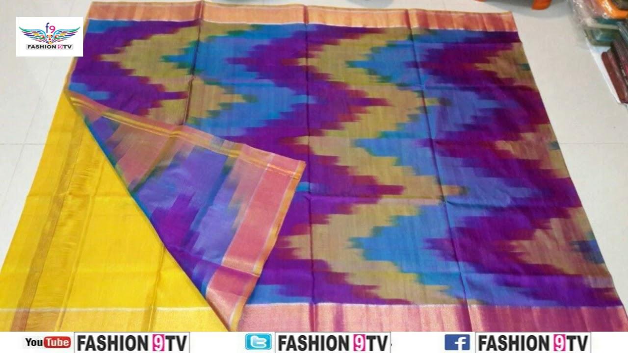 97e656e184ce8 latest designer uppada ikkat silk saree with price  fashion9tv  price  3599   -