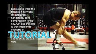 Gymnastics exercises: Apprendre le [L-sit to Handstand] - Press handstand tutorial Ang/Fra