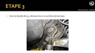 Tuto remplacement des silentblocs de berceau de pont arrière sur Mercedes W124