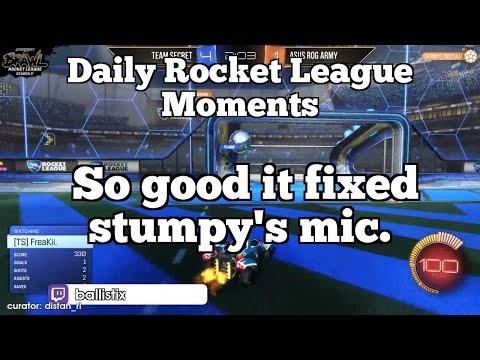 Daily Rocket League Moments: So good it fixed stumpy's mic. thumbnail