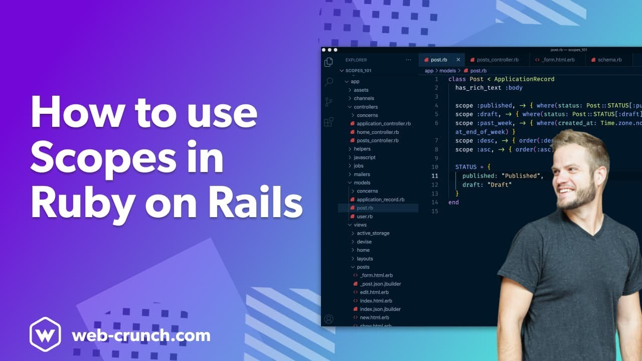 How to use Scopes in Ruby on Rails