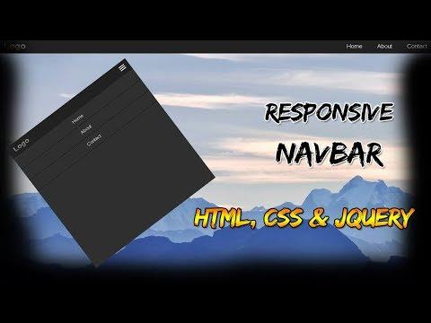 Responsive Navbar | HTML, CSS & JQUERY thumbnail