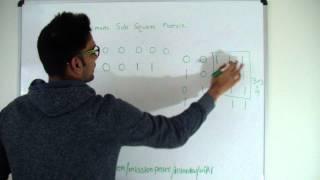 Maximum Sub Square Matrix Dynamic Programming