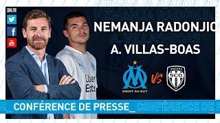 VIDEO: OM  Angers - La conférence de presse de Nemanja Radonjic & d'André Villas-Boas