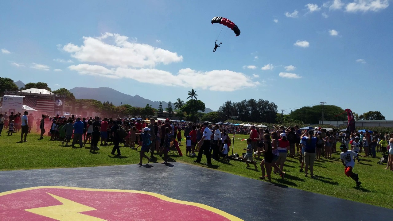 Funny Video: Skydiver Crashes Into Crowd
