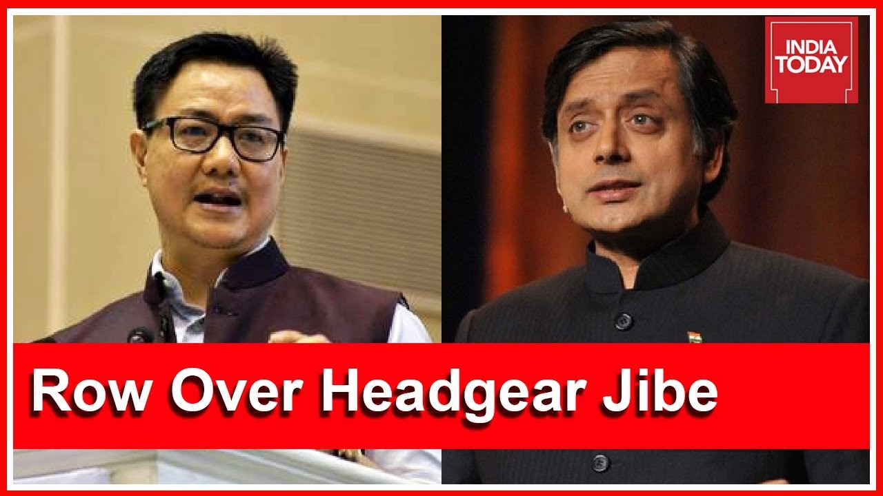Kiren Rijiju Demands Apology From Shashi Tharoor Over His 'Headgear' Jibe At PM Modi