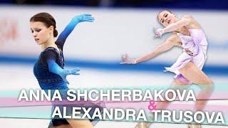 The Best of Anna Shcherbakova Alexandra Trusova Season 2020 21 recap Figure Skaters Stories