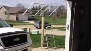 Video #3 How To Build  Adjustable Solar Panel Post Frame And Mount Bracket Dyi.