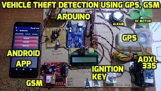 Vehicle Theft Detection Using GPS, GSM and Arduino