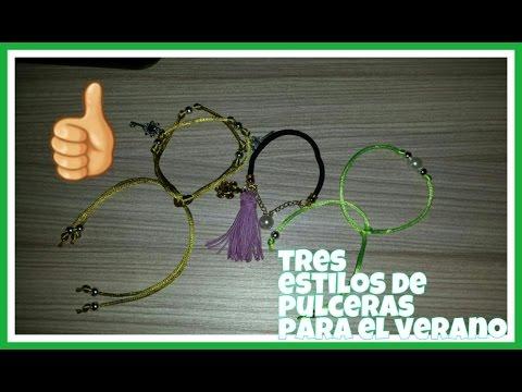 DIY:Pulseras de verano muy fácil. Summer bracelets very easy...
