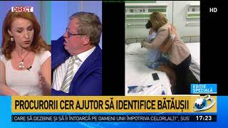 Imagini din spital cu Ștefania, jandarmerița bătută în Piața Victoriei