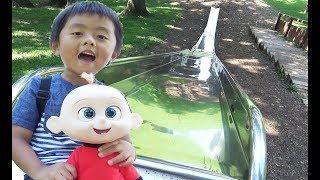 The Incredibles 2 Jack Jack Escape And Go Down The Giant Slide