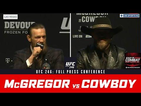 Ufc 246 Conor Mcgregor Vs Donald Cowboy Cerrone Full Press Conference Cbs Sports Hq