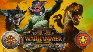 Norsca vs Lizardmen | Total War Warhammer 2 - The Queen &  The Crone DLC