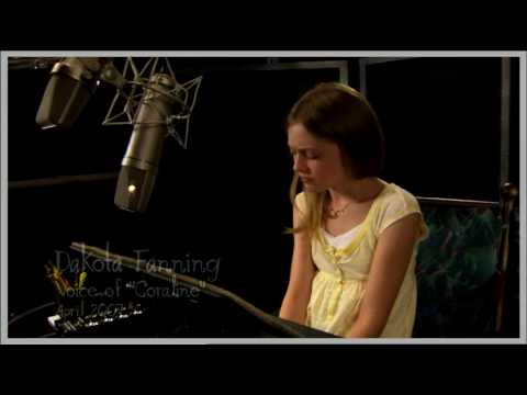 Coraline Clip Voice Session With Teri Hatcher Dakota Fanning Youtube