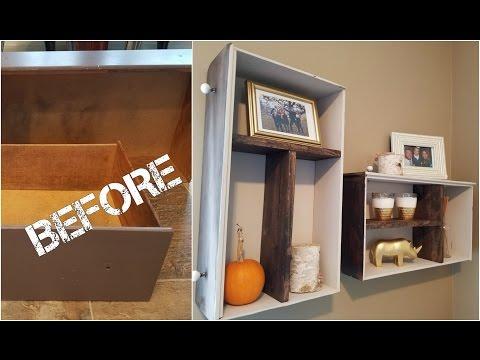 DIY- Turn Old Drawers To Shelves!