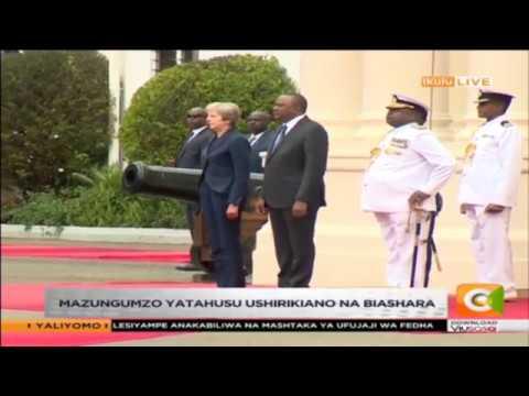 Waziri Mkuu wa Uingereza Theresa May awasili Ikulu #SemaNaCitizen