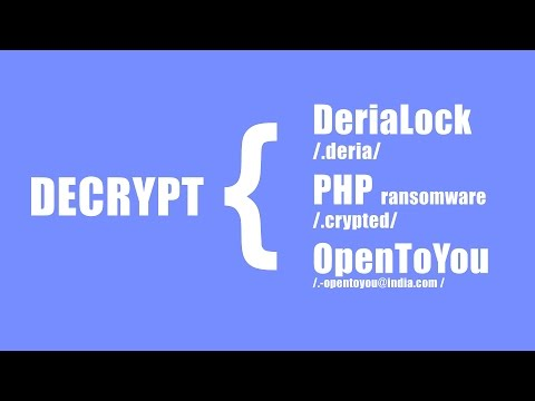 Decrypt OpenToYou, DeriaLock, and PHP Ransomware for Free
