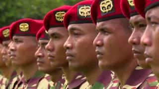 Yel Yel Kopassus di depan Presiden Indonesia Jokowi