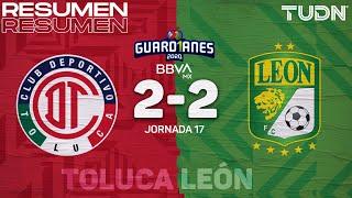Resumen y goles | Toluca 2-2 León | Guard1anes 2020 Liga Mx - J17 | TUDN