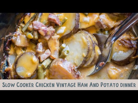Slow Cooker Vintage Ham And Potato Dinner