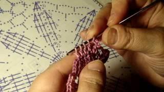 Видео урок вязание крючком по схемам.. Часть 2