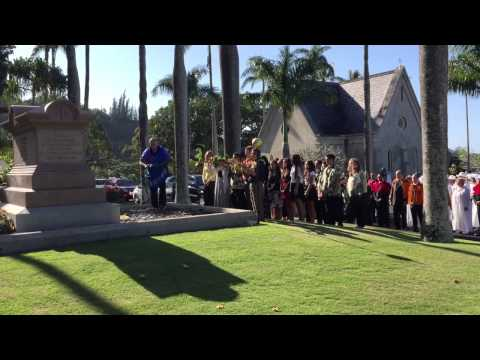He Mele No ʻIolani- A chant to honor King Kamehameha IV and Queen Emma on the Kingʻs 181st birthday.