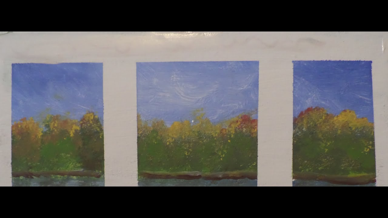 Landscape In The Window An Acrylic Painting Tutorial For