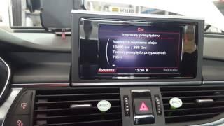 Audi a6 c7 2013r. Reset oil interwal