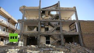 Televisión estatal iraní muestra la devastación causada por el terremoto