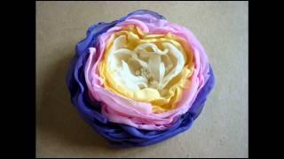 Изумительные цветы из ткани
