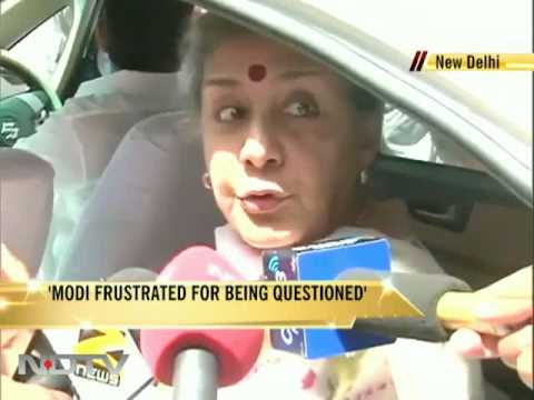 Modi frustrated for being questioned: Ambika Soni