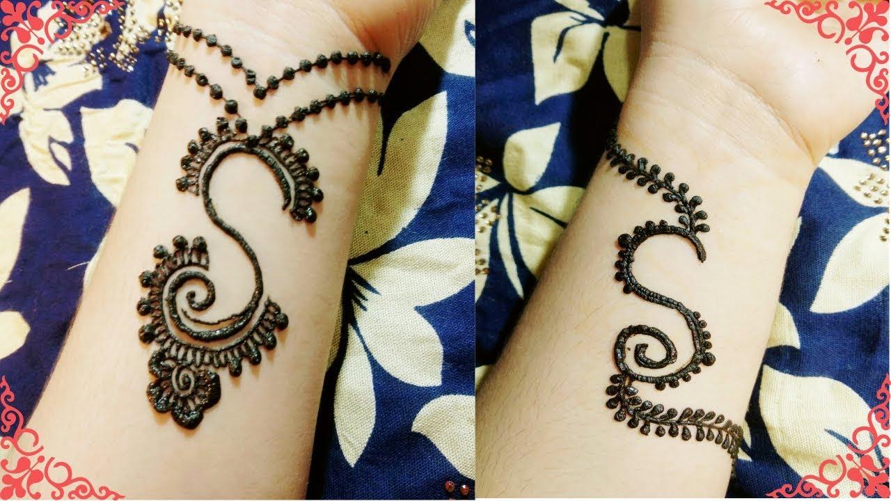 2 Beautiful S Tattoo Mehndi Design 2 New Alphabet S Tattoo Mehndi Design For Girls Youtube