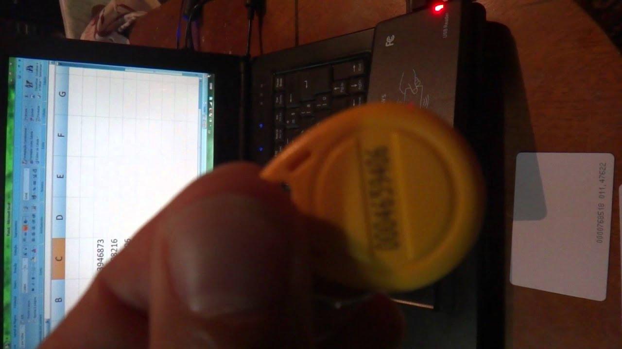 USB 125Khz RFID Proximity ID Card Reader EM4100