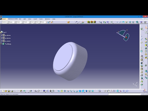 Catia V5 Bottle Cap