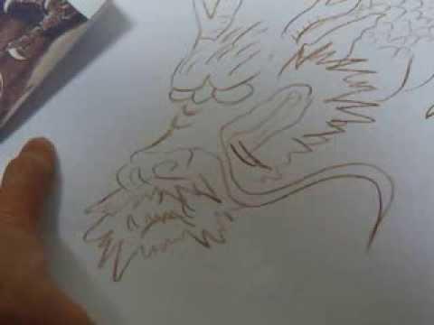 雲龍院水墨の龍 龍の描き方 動画 Youtube