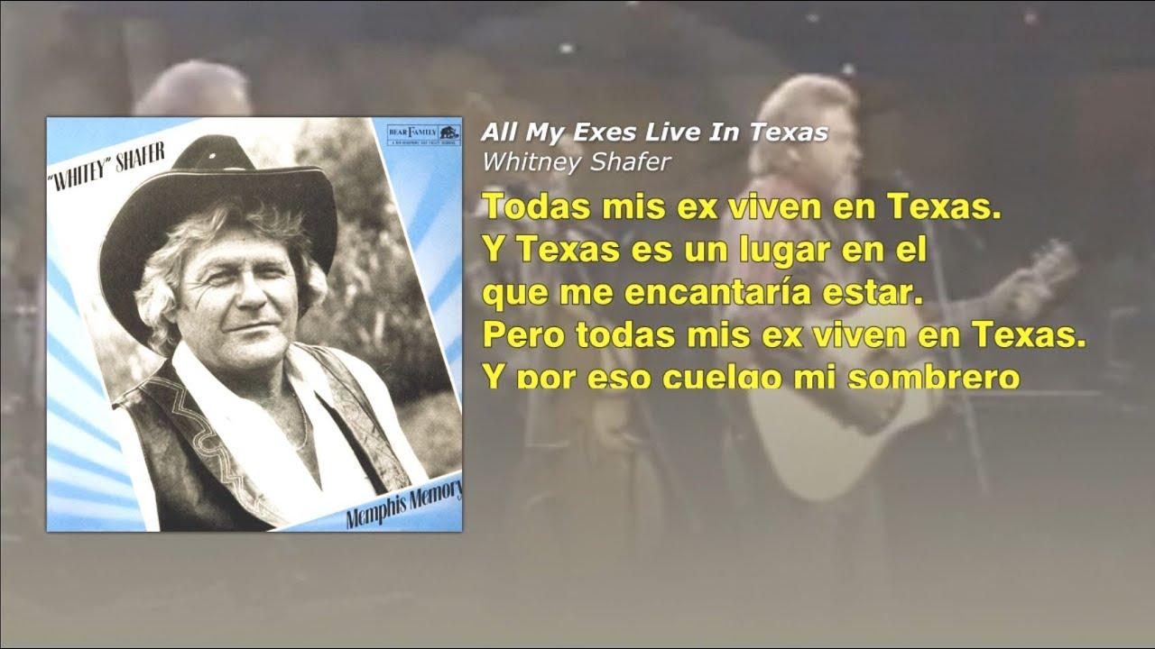 All My Ex S Live In Texas Whitey Shafer Subtitulado Al Espanol