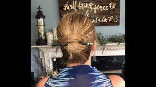 Easy Lazy Wrap Bun tutorial using Lilla Rose hair sticks!