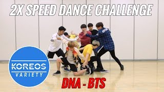 Video [Koreos Variety] S2 E2 - 2X Speed Challenge: BTS (방탄소년단) DNA (Male ver.) download MP3, 3GP, MP4, WEBM, AVI, FLV Agustus 2018