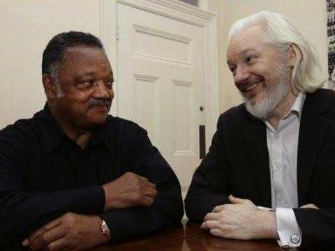 Jesse Jackson Visits WikiLeaks' Julian Assange