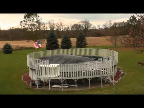 How to properly secure your winter pool cover in high wind areas
