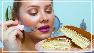 #ASMR | DEGUSTATION D'UN GATEAU DE CREPES