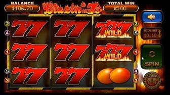William Hill Vegas Jackpots.Blazin Hot 7's.bonus game Big Win.